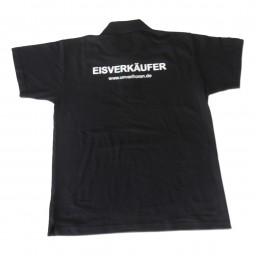 "Polo-Shirt schwarz ""Eisverkäufer"""