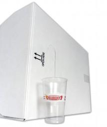 Karton 200 ml-Becher, 3.000 Stück, klar (mit Logo)