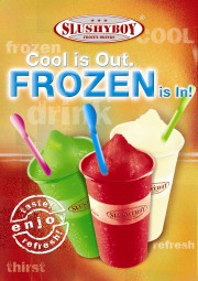 Poster 2 'Cool is Out - Frozen is In'