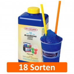 SLUSHYBOY® FROZEN DRINKS | 1-Liter Flaschen Sirup in 18 Sorten