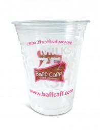 300 ml-Clear-Cups, 50 Stück, klar (mit Baff Caff- Logo)