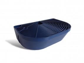 Tropfschale mit Gitter (dunkelblau) | GBG