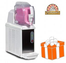 Creme-Eis-Maschine NINO 1x1,5 Liter, white, inkl. Gelamondo Starterpaket | SPM