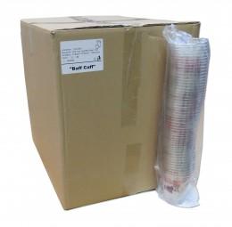 Karton 0,3l-Clear-Cups, klar (mit Baff Caff-Logo)