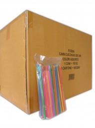 Karton Löffelhalme für Slush Eis (10.000 Stück)