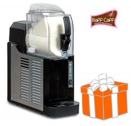 Mini-Slusher NINA 1x1,5 Liter, black, inkl. Frozen Milkshakes-Starterpaket