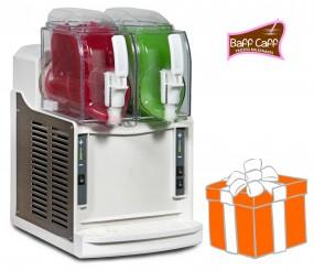 Mini-Slusher NINA 2x1,5 Liter, white, inkl. Frozen Milkshakes-Starterpaket