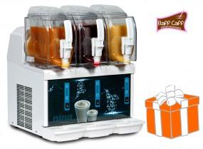 Mini-Slusher NINA 3x1,5 Liter, white, inkl. Frozen Milkshakes-Starterpaket