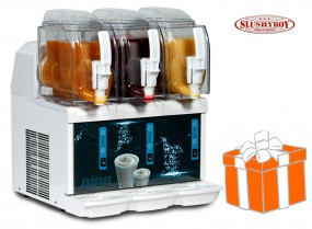 Mini-Slusher NINA 3x1,5 Liter, white, inkl. Slush-Ice-Starterpaket
