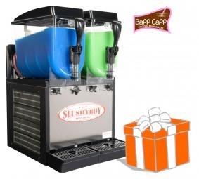 SLUSHER Classic 2x8 Liter inkl. Frozen Milkshakes-Starterpaket