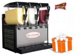 SLUSHER Classic 3x8 Liter inkl. Frozen Milkshakes-Starterpaket