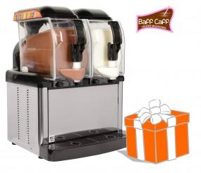 SLUSHER Premium 2x5 Liter inkl. Frozen Milkshakes-Starterpaket